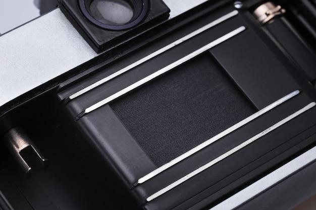 Primo piano di vecchio retro obiettivo della macchina da presa Foto Gratuite