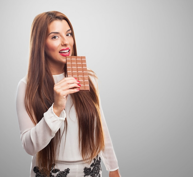Primo piano signora dessert dieta sana Foto Gratuite