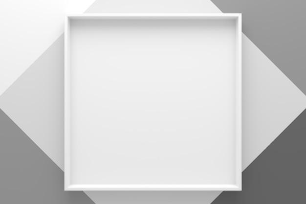 Priorità bassa astratta del cassetto di figura di rettangolo. rendering 3d. Foto Premium