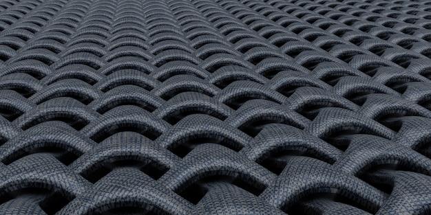 Priorità bassa astratta della carta da parati del tessuto geometrico 3d Foto Gratuite