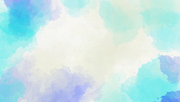 Priorità bassa blu astratta dell'acquerello Foto Premium
