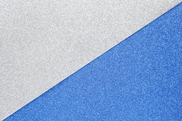 Priorità bassa festiva scintillante d'argento e blu Foto Premium
