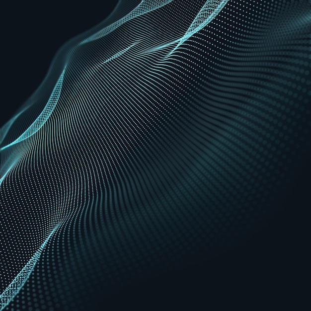 Priorità bassa geometrica blu astratta 3d. struttura di connessione sfondo di scienza tecnologia futuristica Foto Gratuite