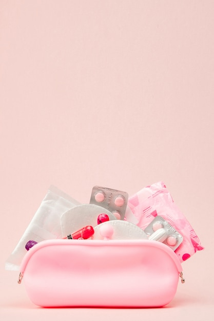 Prodotti per l'igiene intima delle donne Foto Premium