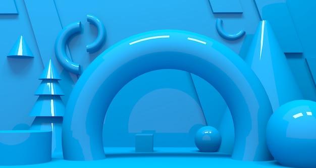Profondità 3d e sfondo realismo. rendering 3d. Foto Premium