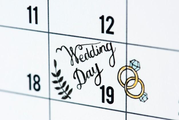 Calendario Giorno.Promemoria Del Calendario Del Giorno Delle Nozze Scaricare