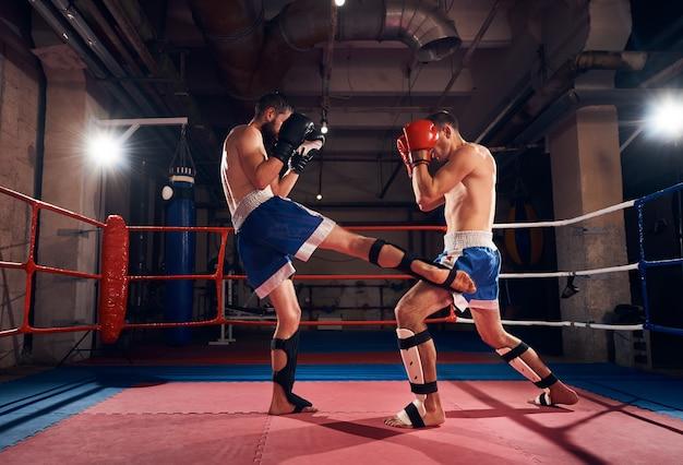 Pugili che addestrano kickboxing Foto Premium