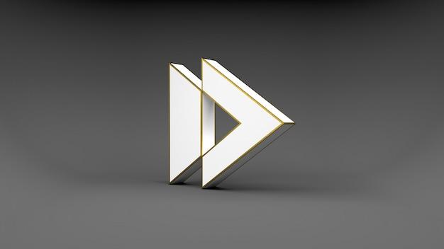 Pulsante freccia logo Foto Premium