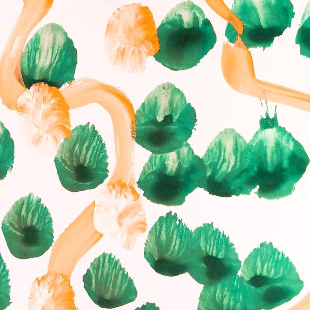 Puntini verdi e linee arancioni Foto Gratuite