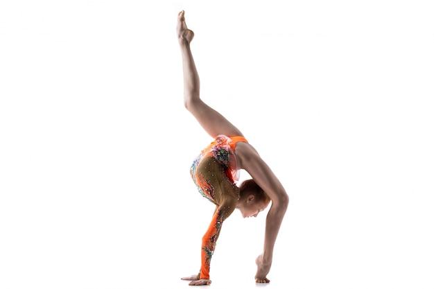 Ragazza, ballerina, adolescente, fare, passeggiata Foto Gratuite