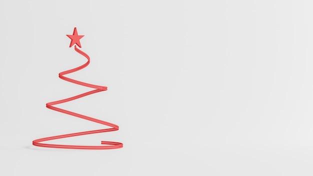 Rappresentazione 3d, buon natale e concetto del buon anno, poli pino basso con progettazione di scena della neve, illustrazione 3d Foto Premium