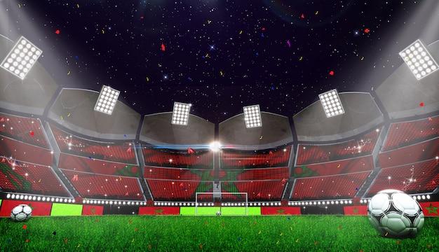 Rappresentazione 3d della priorità bassa dello stadio Foto Premium