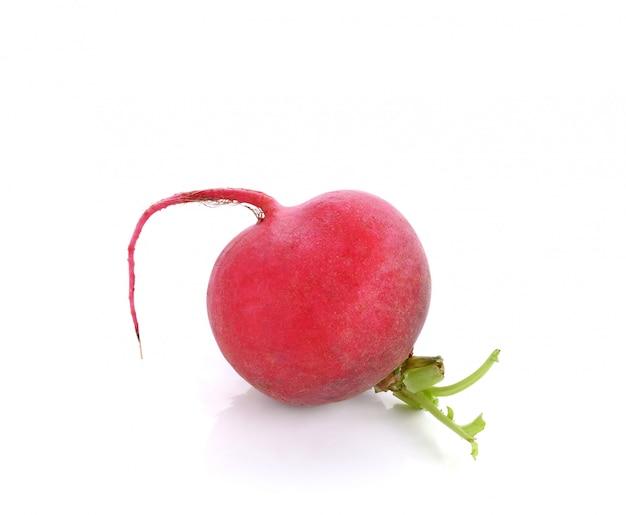Ravanello rosso isolato Foto Premium
