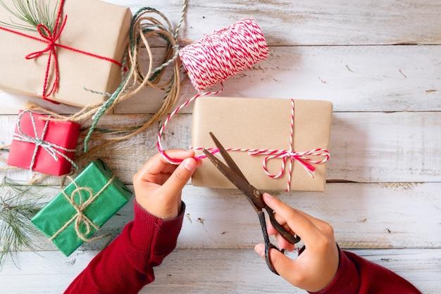 Scatole Per Regali Di Natale.Regali Di Avvolgimento Per Regali Di Natale E Capodanno Scatole Da