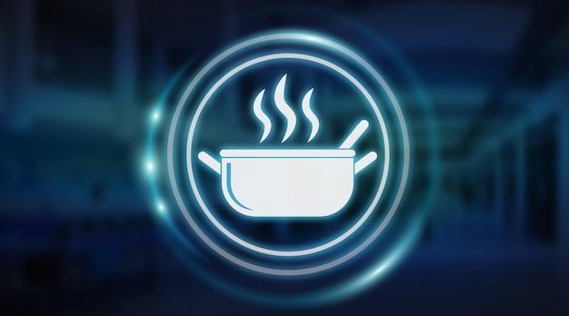 Rendering 3d dell'interfaccia per applicazione alimentare fatta in casa Foto Premium