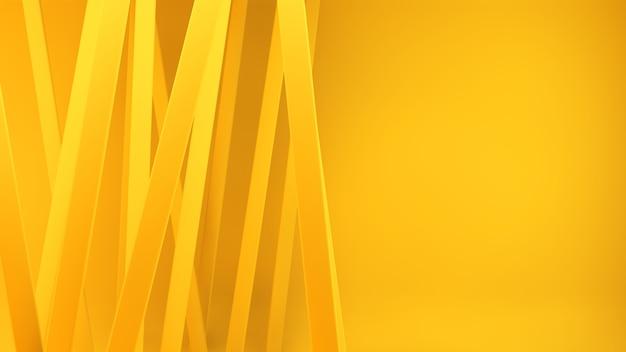 Rendering 3d di linee gialle Foto Premium