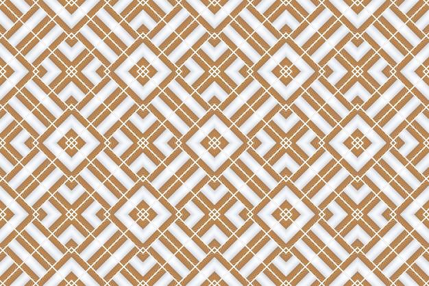 Rendering 3d. fondo di parete di piastrelle di design moderno griglia modello quadrato in legno senza soluzione di continuità. Foto Premium