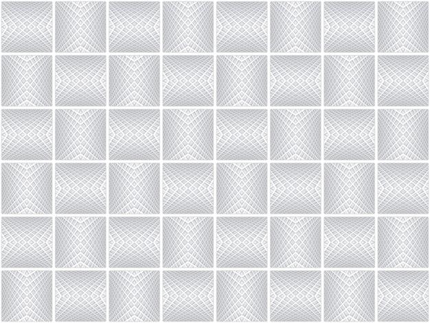 Rendering 3d. senza soluzione di continuità moderna grigio griglia modello di arte del reticolo di piastrelle in ceramica texture di sfondo della parete. Foto Premium