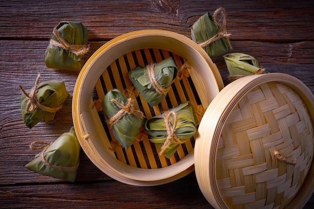 Ricetta gnocchi di riso glutinoso appiccicoso zongzi Foto Premium