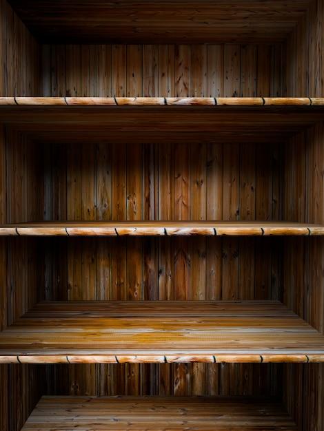 Ripiano in legno vuoto Foto Premium