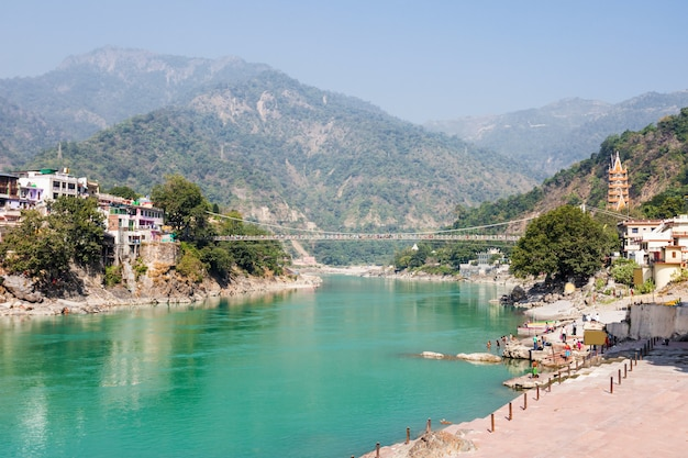 Rishikesh in india Foto Premium