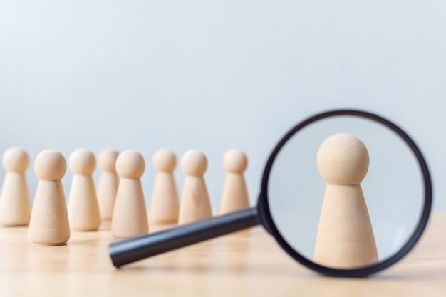 Risorse umane, gestione dei talenti, impiegato di reclutamento, leader del team aziendale di successo Foto Premium