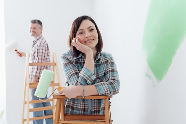 Ristrutturazione e decorazione della casa Foto Premium