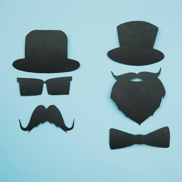Ritagli di carta di gentiluomini in cappelli Foto Gratuite