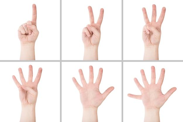 Ritaglia le mani contando fino a sei Foto Gratuite