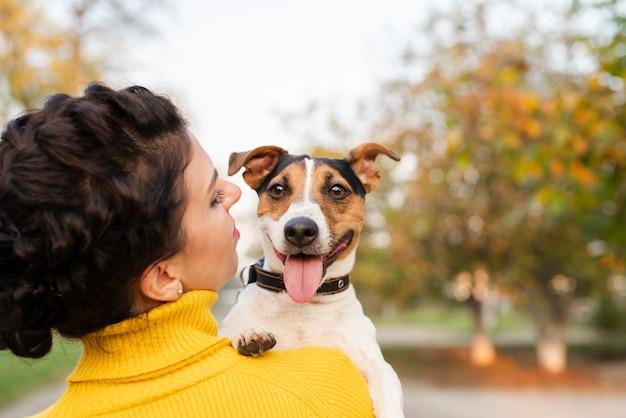 Ritratto di bellissimo cagnolino Foto Gratuite
