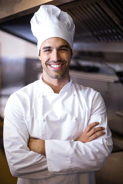 Ritratto di bello chef Foto Premium
