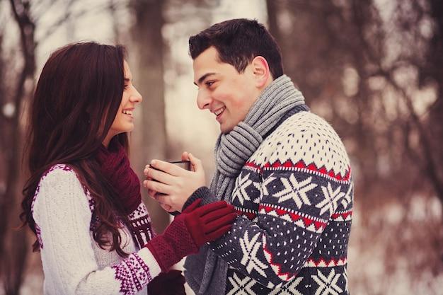 Ritratto di coppie felici Foto Premium