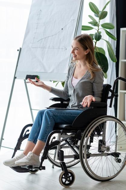 Ritratto di donna adulta in sedia a rotelle Foto Gratuite