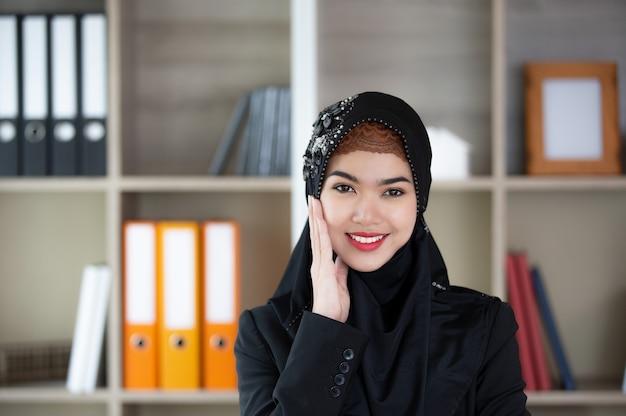 Ritratto di donne musulmane Foto Premium