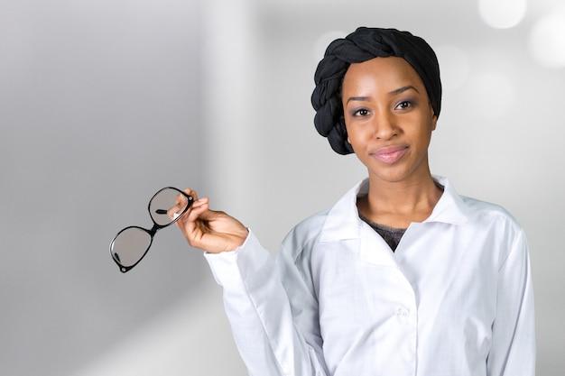 Ritratto di dottore femminile Foto Premium