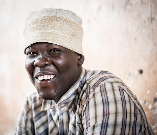 Ritratto di ragazzo africano Foto Premium