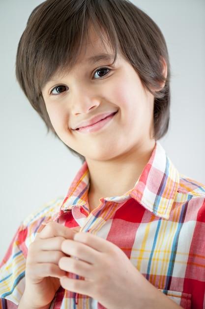 Ritratto di ragazzo modello Foto Premium