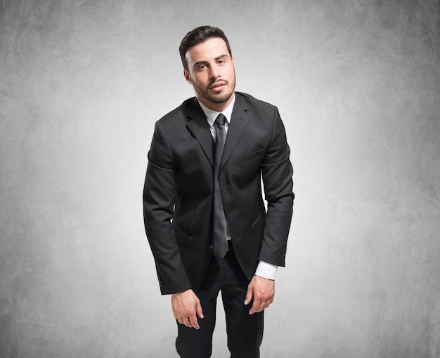 Ritratto di un uomo d'affari stanco Foto Premium