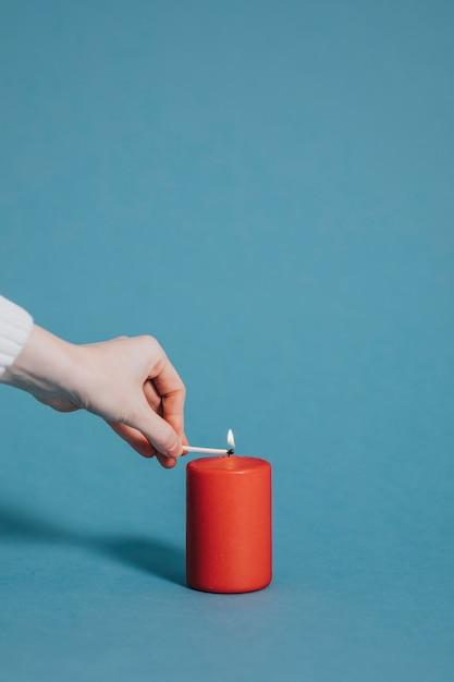 Romantica candela accesa Foto Gratuite