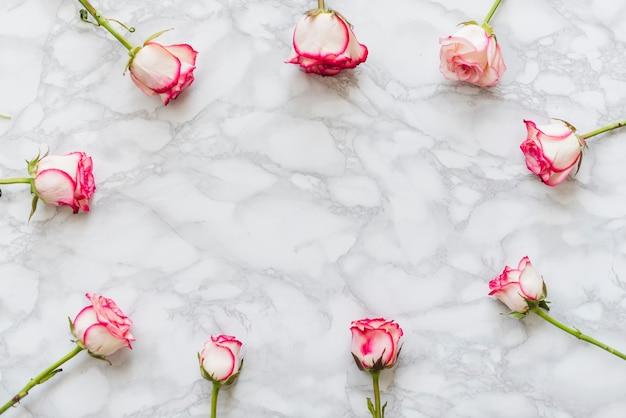 Rose colorate decorative su uno sfondo Foto Gratuite
