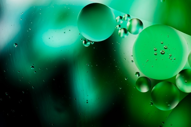 Rugiada verde di una priorità bassa acquosa astratta di mattina Foto Gratuite