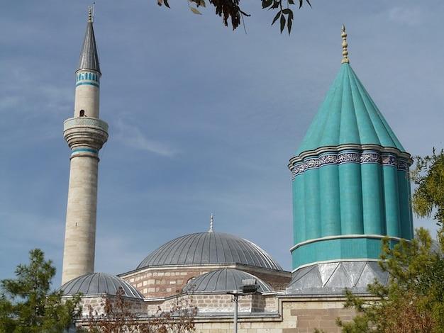 Rumi mausoleo moschea mevlana jalal ad din konya Foto Gratuite