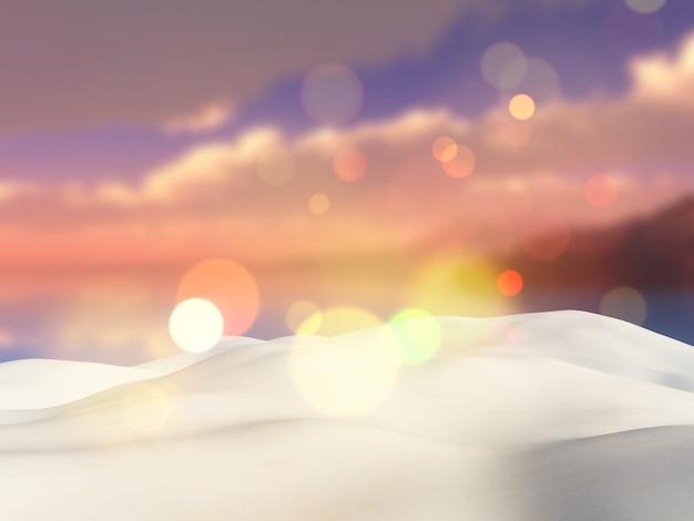 Sabbia che si affaccia su un paesaggio tropicale sfocato Foto Gratuite