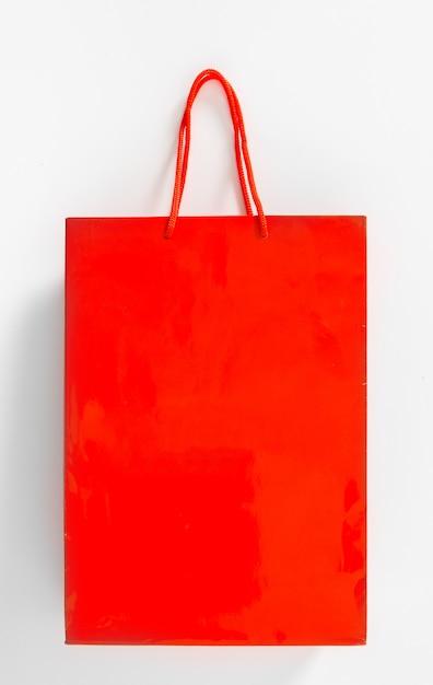 Sacchetto della spesa isolato su bianco Foto Premium