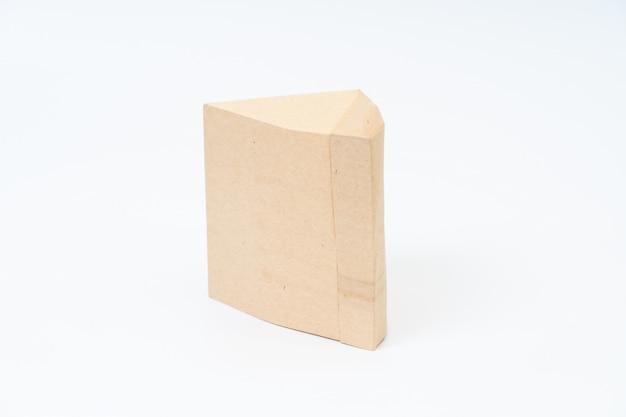 Sacco di carta dell'aspirapolvere su spazio bianco Foto Premium