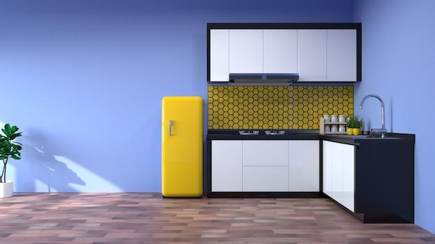 Sala cucina cucina interna ristorante moderno Foto Premium