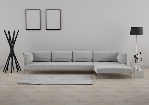 Salotto minimalista Foto Premium