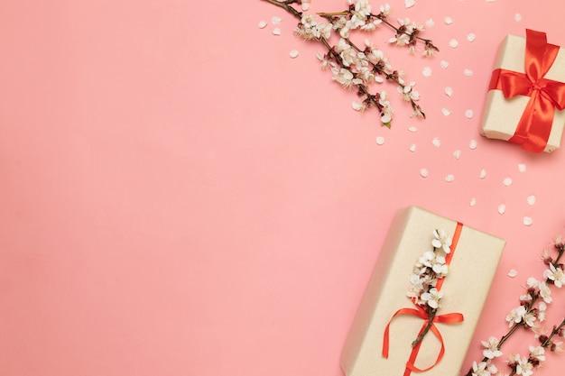 San valentino, festa della mamma, concetto di giorno delle donne Foto Premium