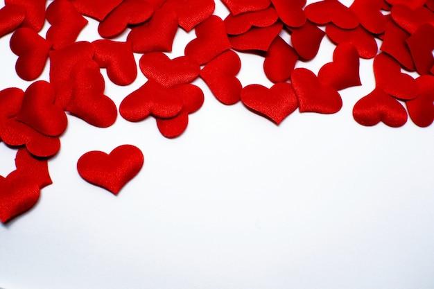 San Valentino Sfondo Con Cuori Rossi Copia Spazio Scaricare Foto