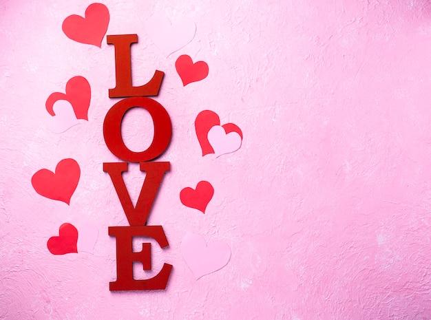 San valentino sfondo con lettere amore Foto Premium